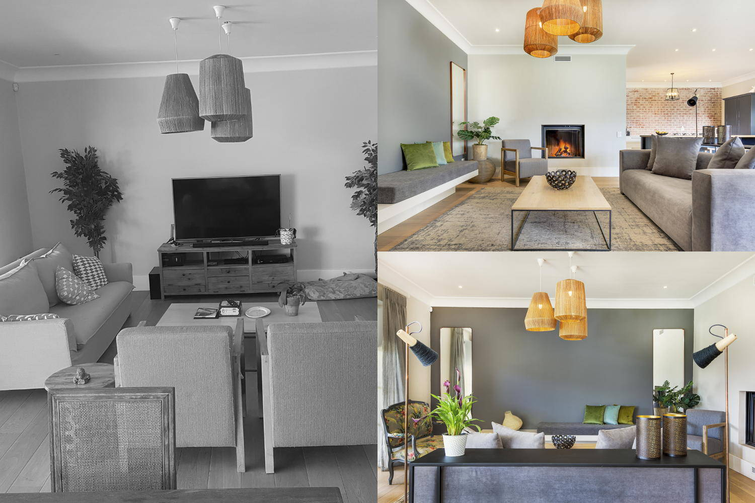 Scott Estate Hout Bay Onnah Design Main Lounge Before and After