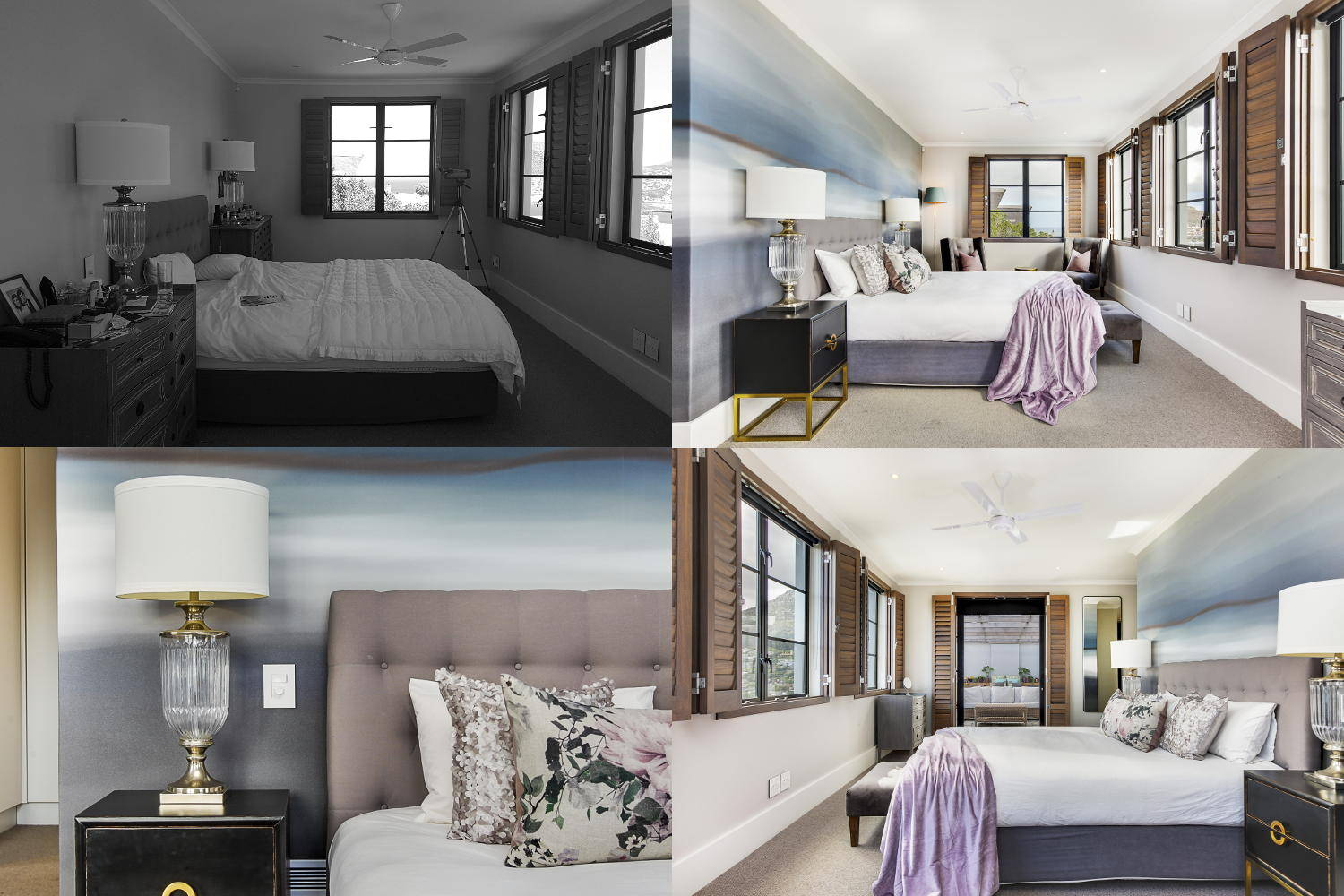 Scott Estate Hout Bay Onnah Design Main Bedroom Before and After