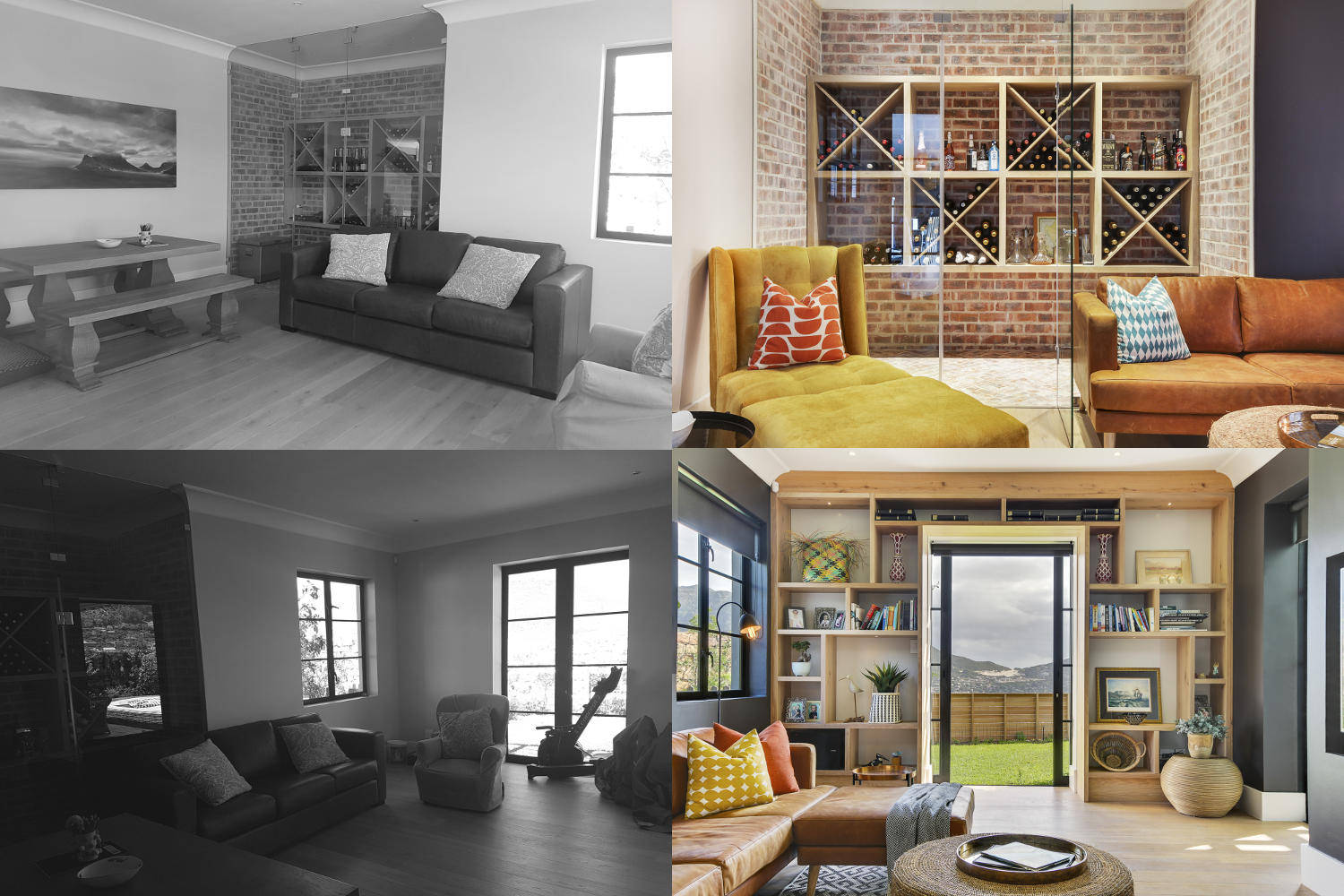 Scott Estate Hout Bay Onnah Design TV Lounge Before and After