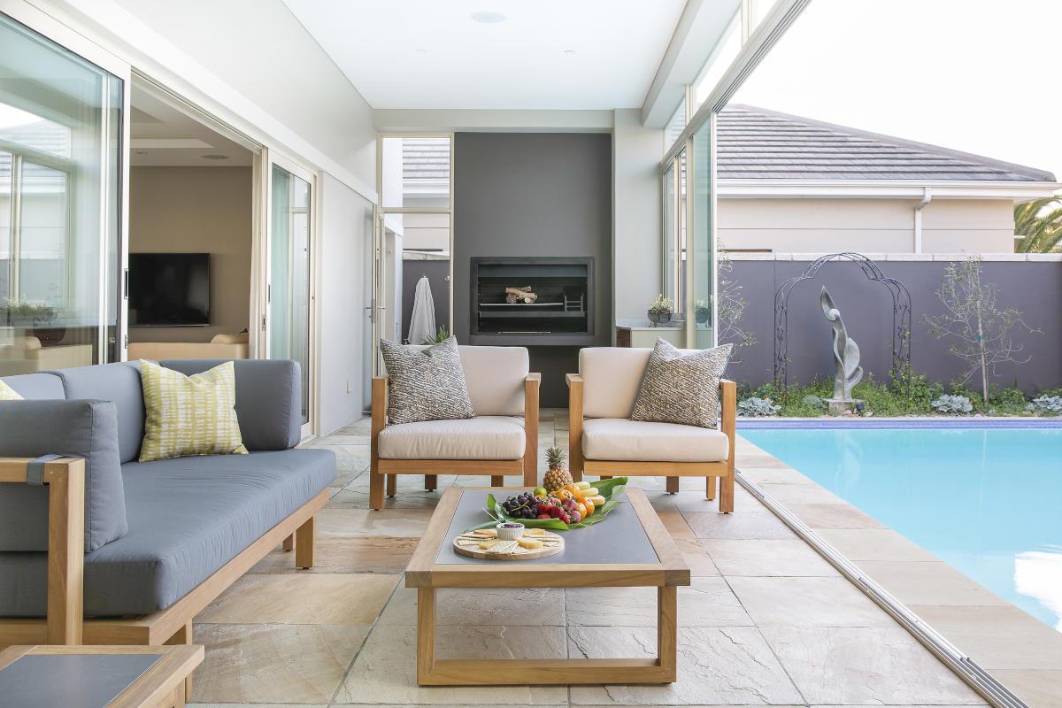 Sunset Links Gold Estate braai and pool Onnah Design