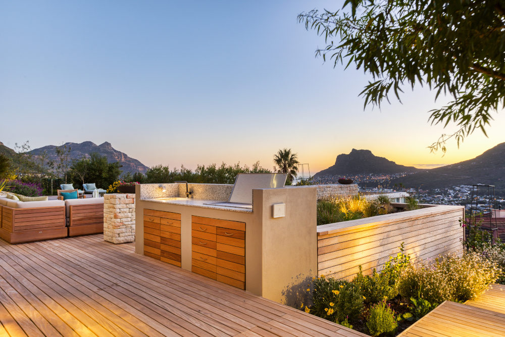 Beautiful backyard hout bay top
